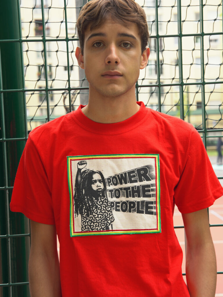 T.Shirt Power to the People rouge M