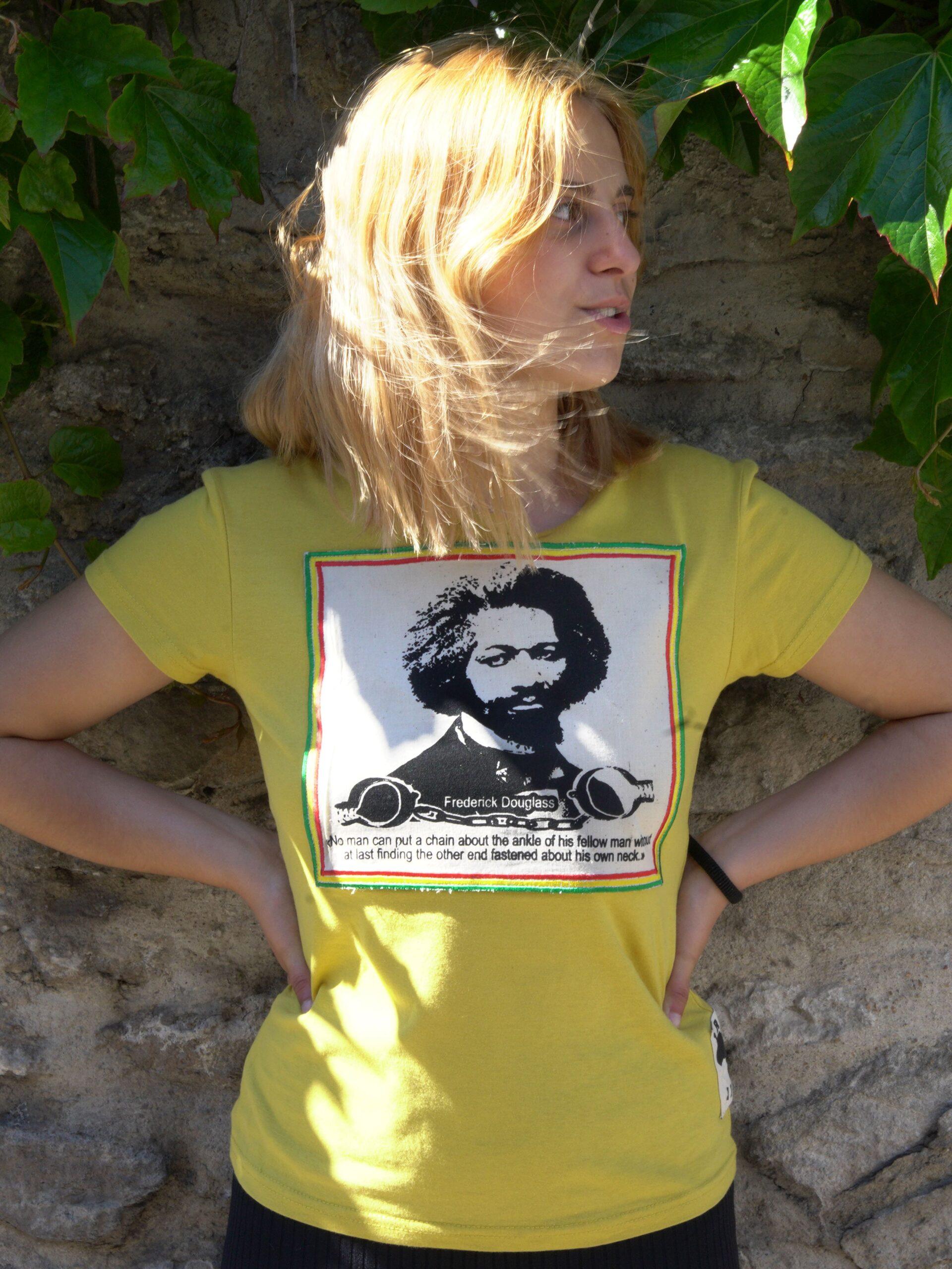 T.Shirt femme Frederick Douglass -jaune