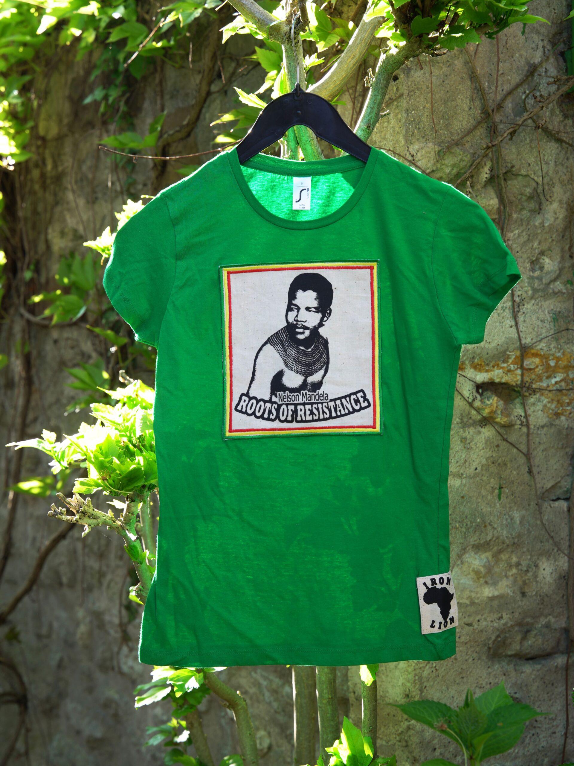 T.Shirt Femme Nelson Mandela -vert
