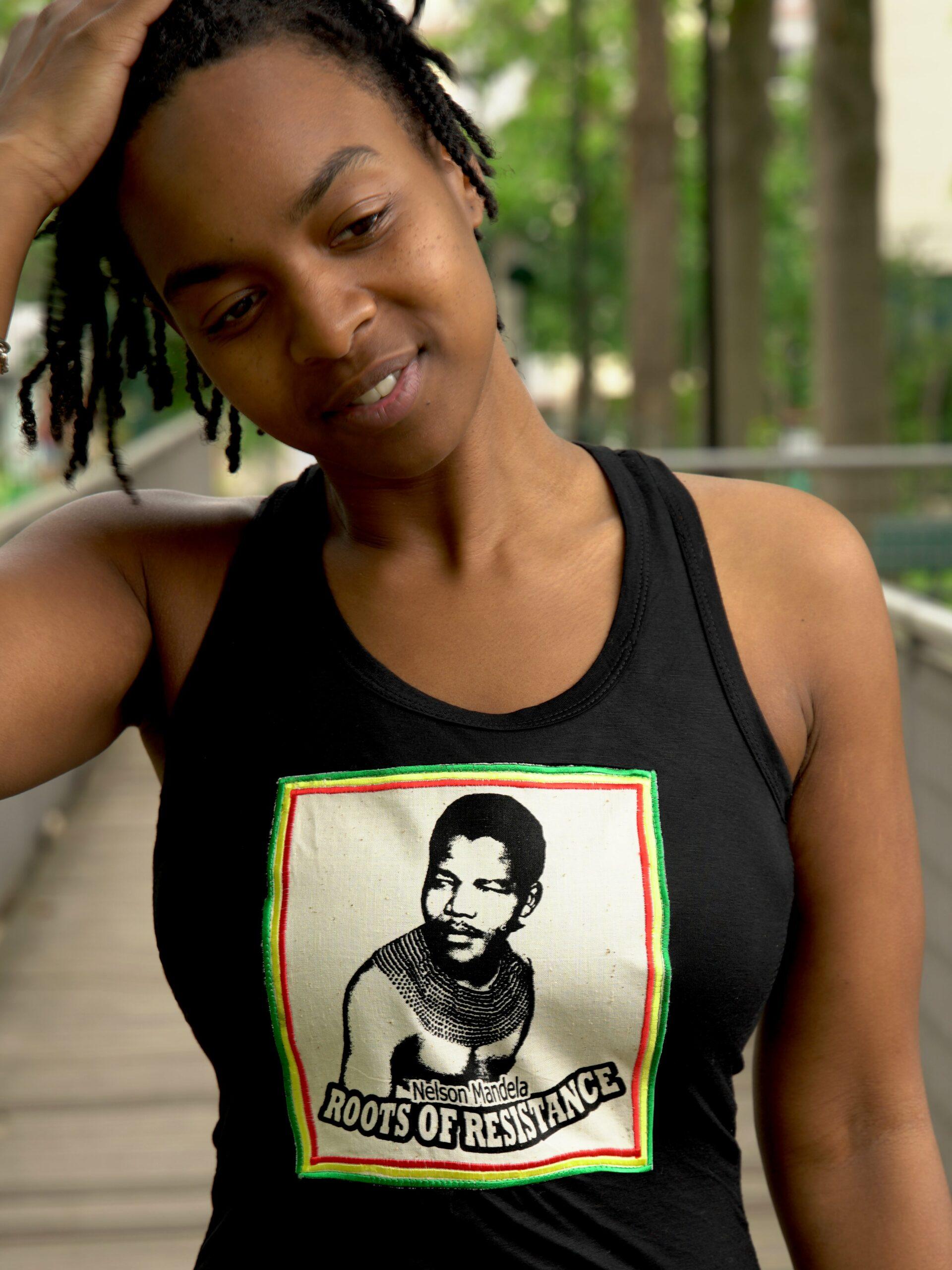 Débardeur Nelson Mandela - noir