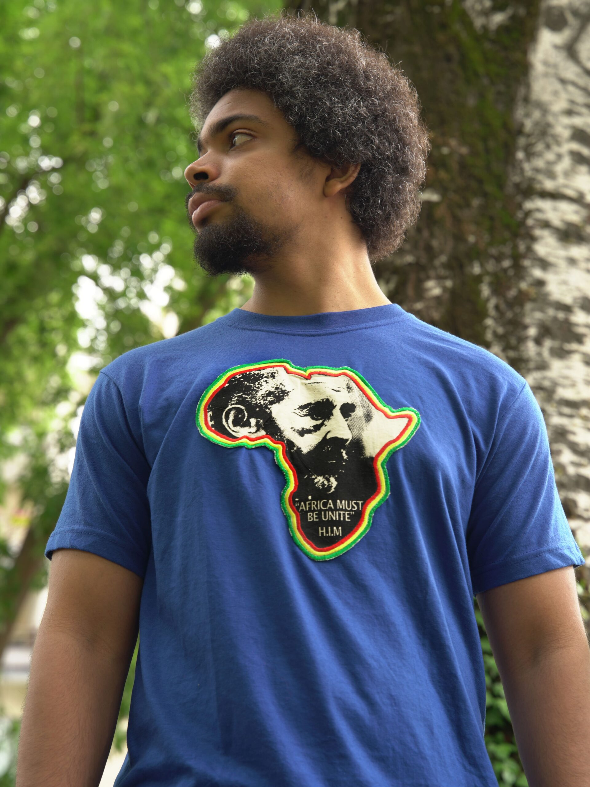 T.Shirt Africa Must Be Unite-bleu-L