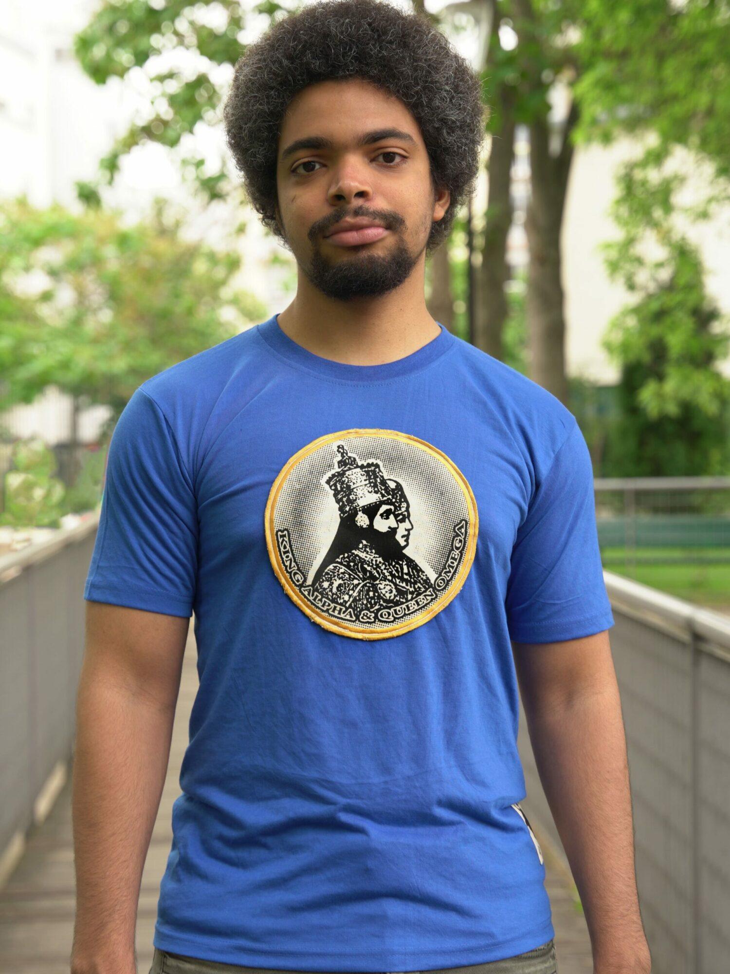 T.Shirt King & Queen bleu-L