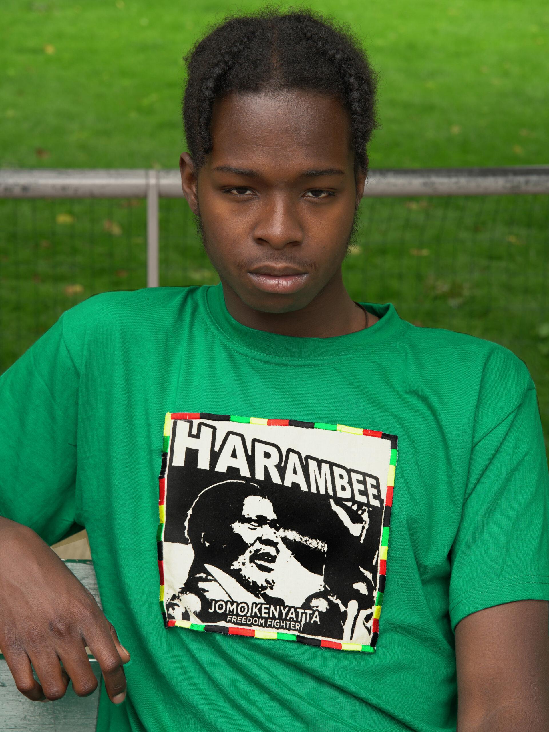 T.Shirt Harambee Jomo Kenyatta -Vert-XL