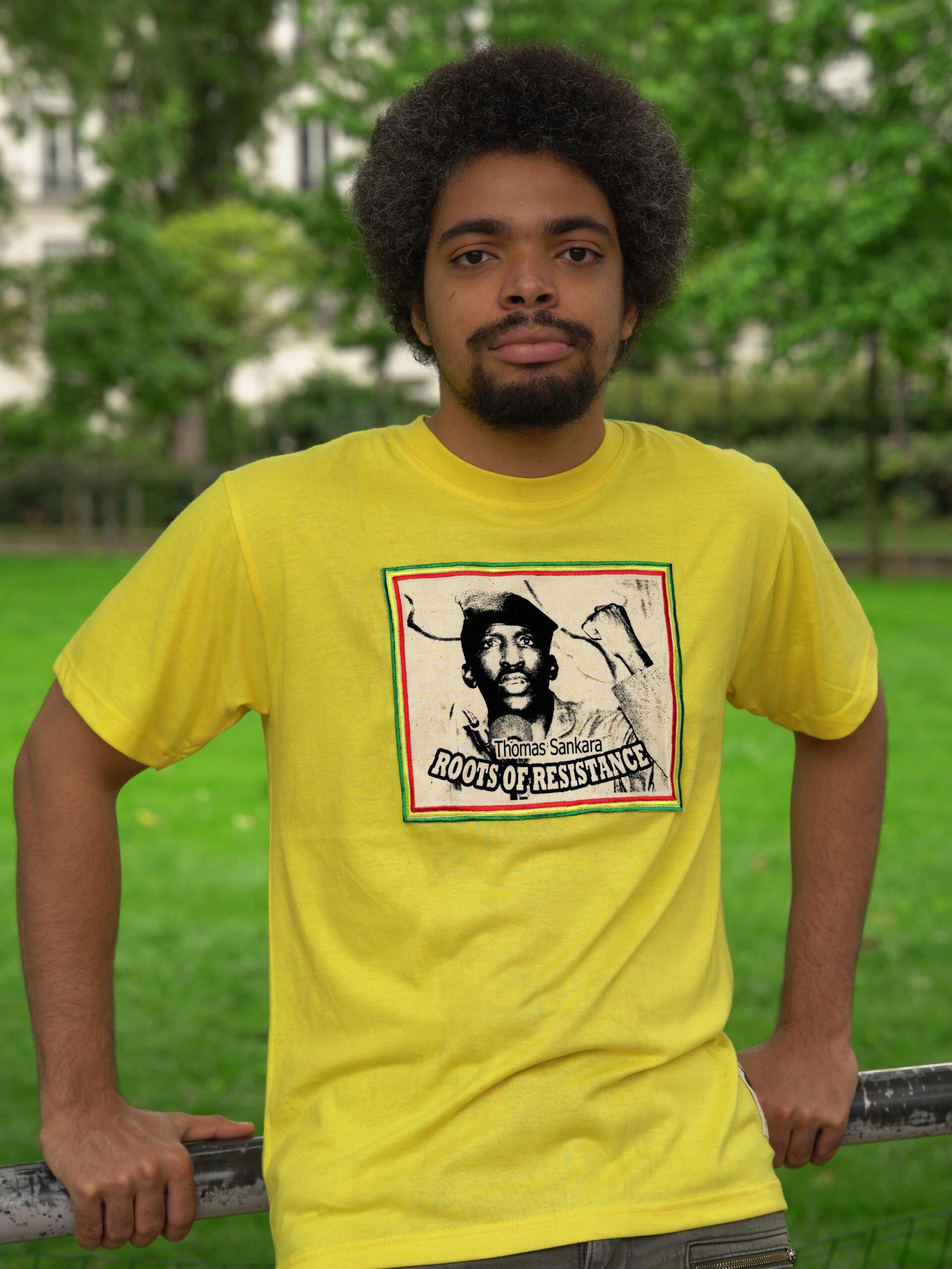 T.Shirt Thomas Sankara jaune-L