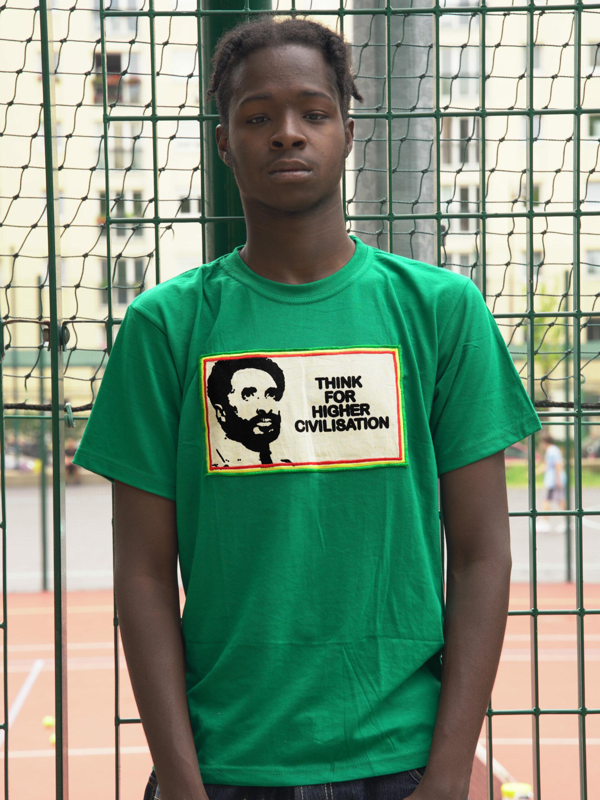 T.Shirt Think for Higher Civilisation Vert-XL