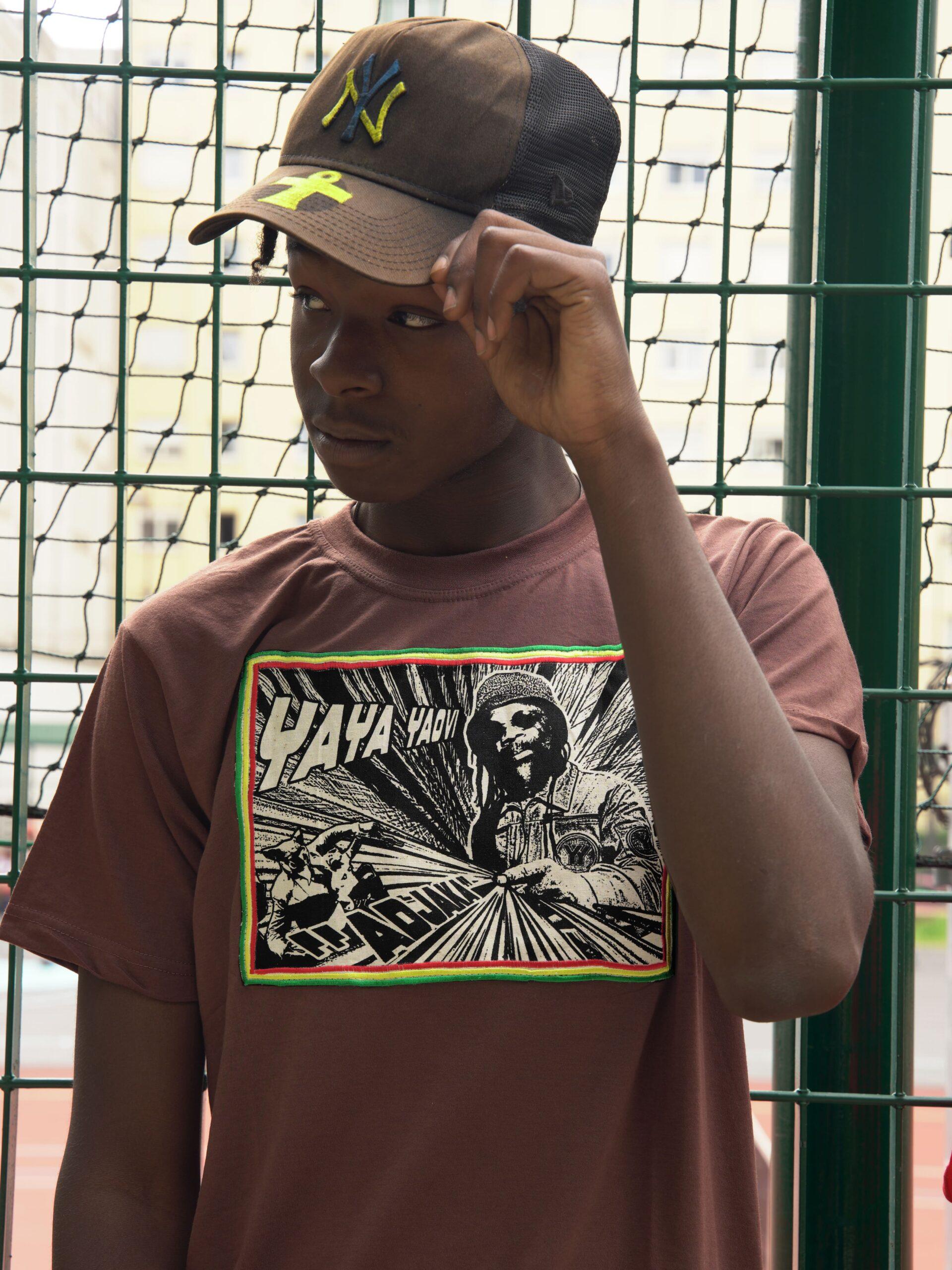 T.Shirt Adjaka - Yaya Yaovi marron-XL
