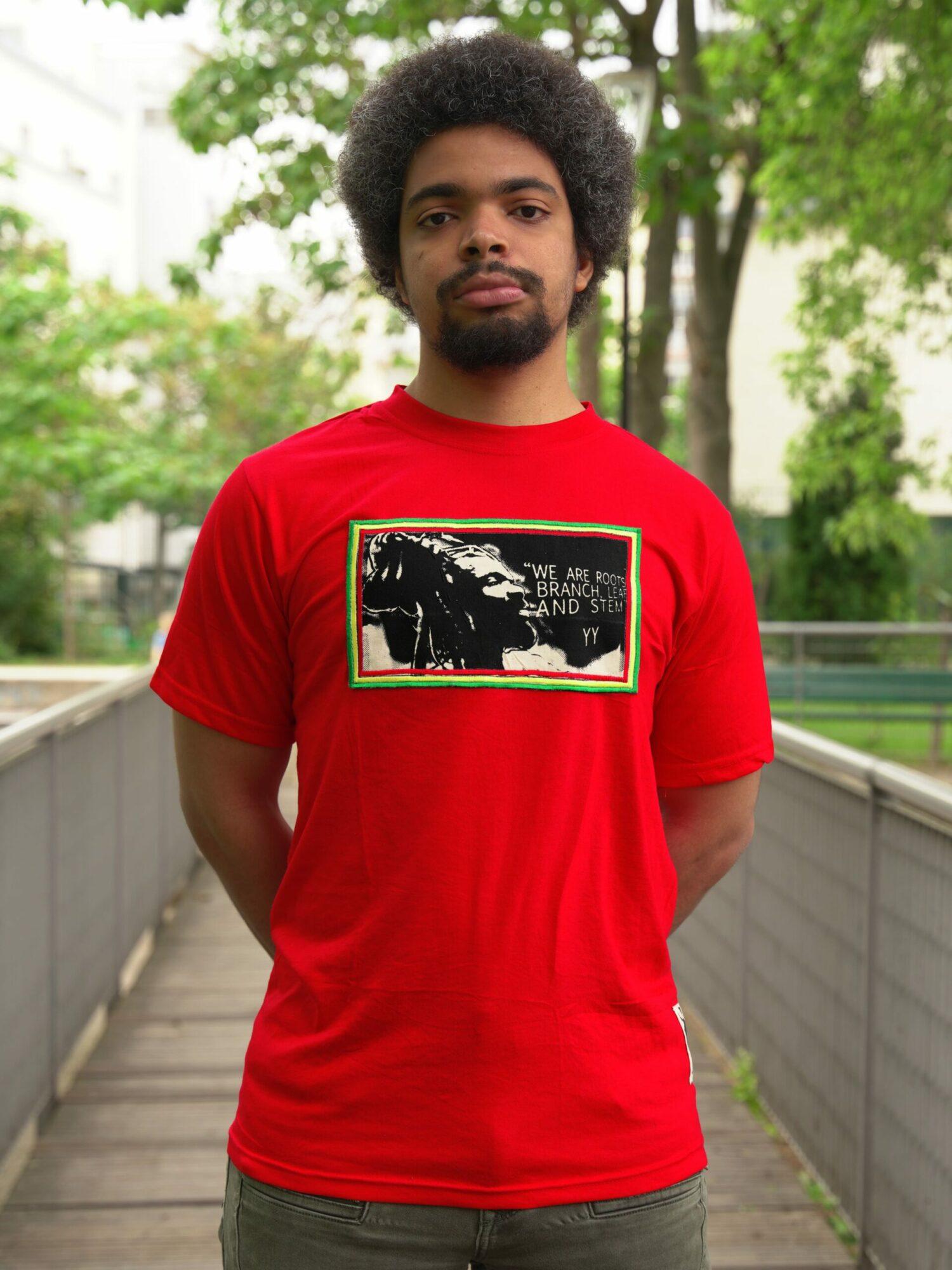 T.Shirt Yaya Yaovi we are roots-rouge-L