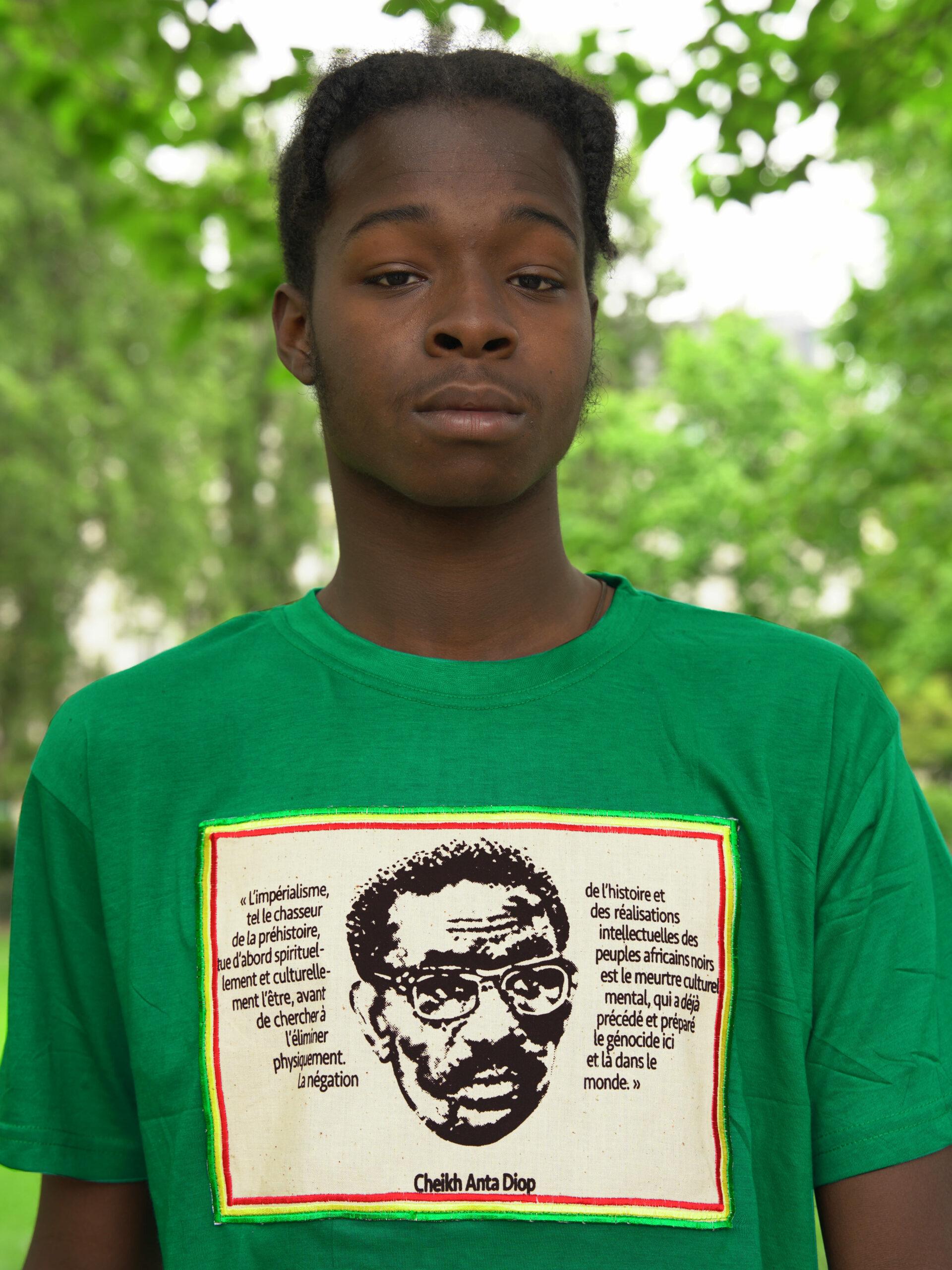 T.Shirt Cheikh Anta Diop vert XL