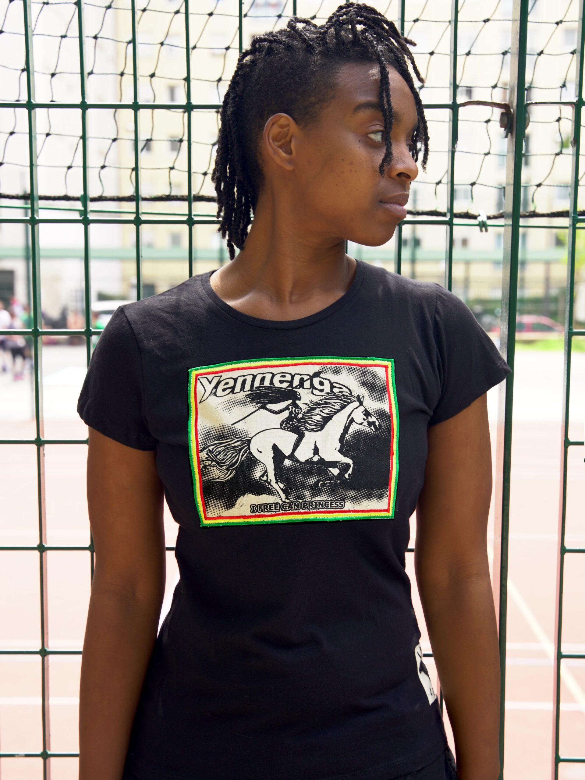 T.Shirt Femme Princesse Yennenga -noir