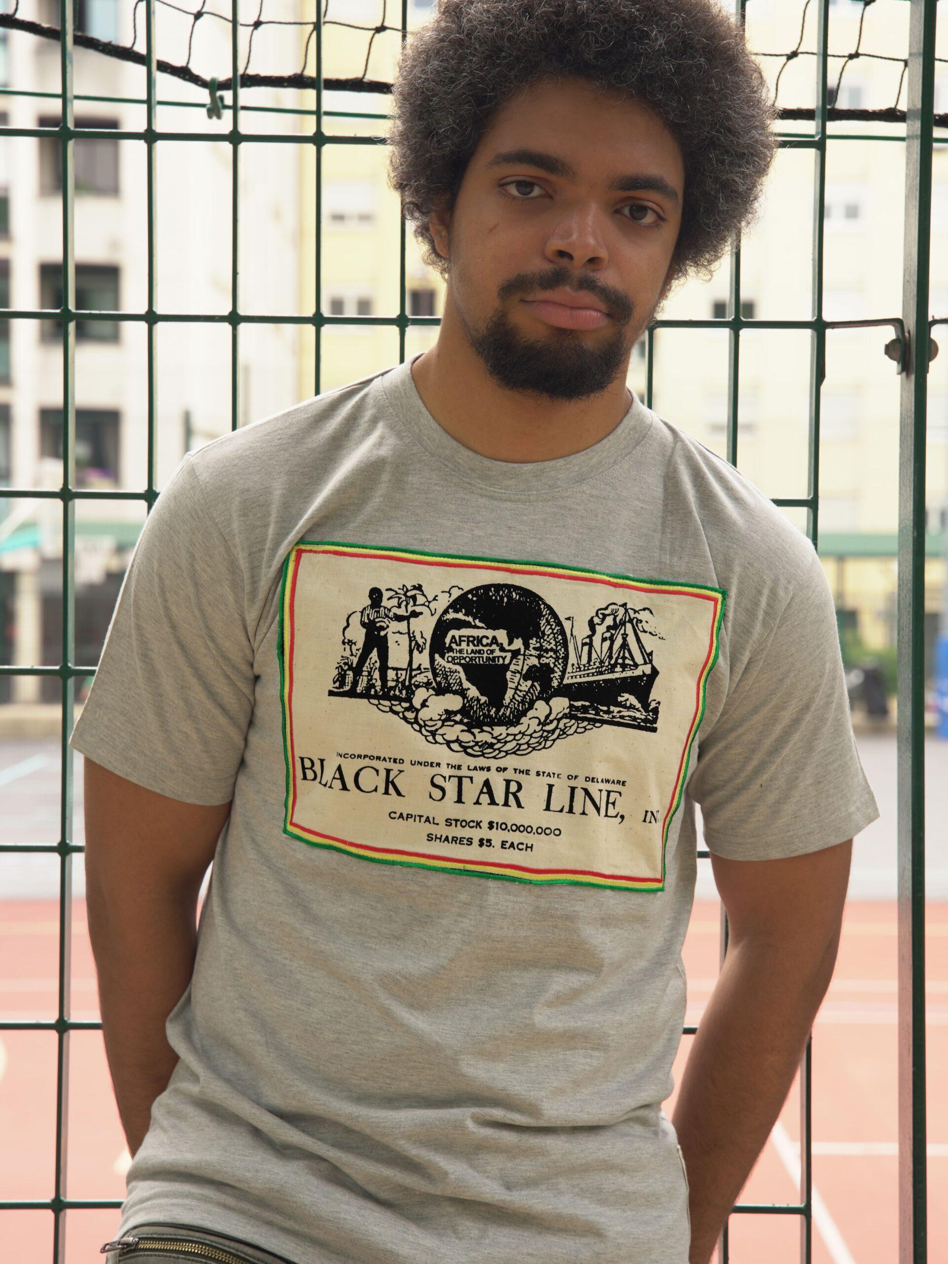 T.Shirt Black Star Line Gris M