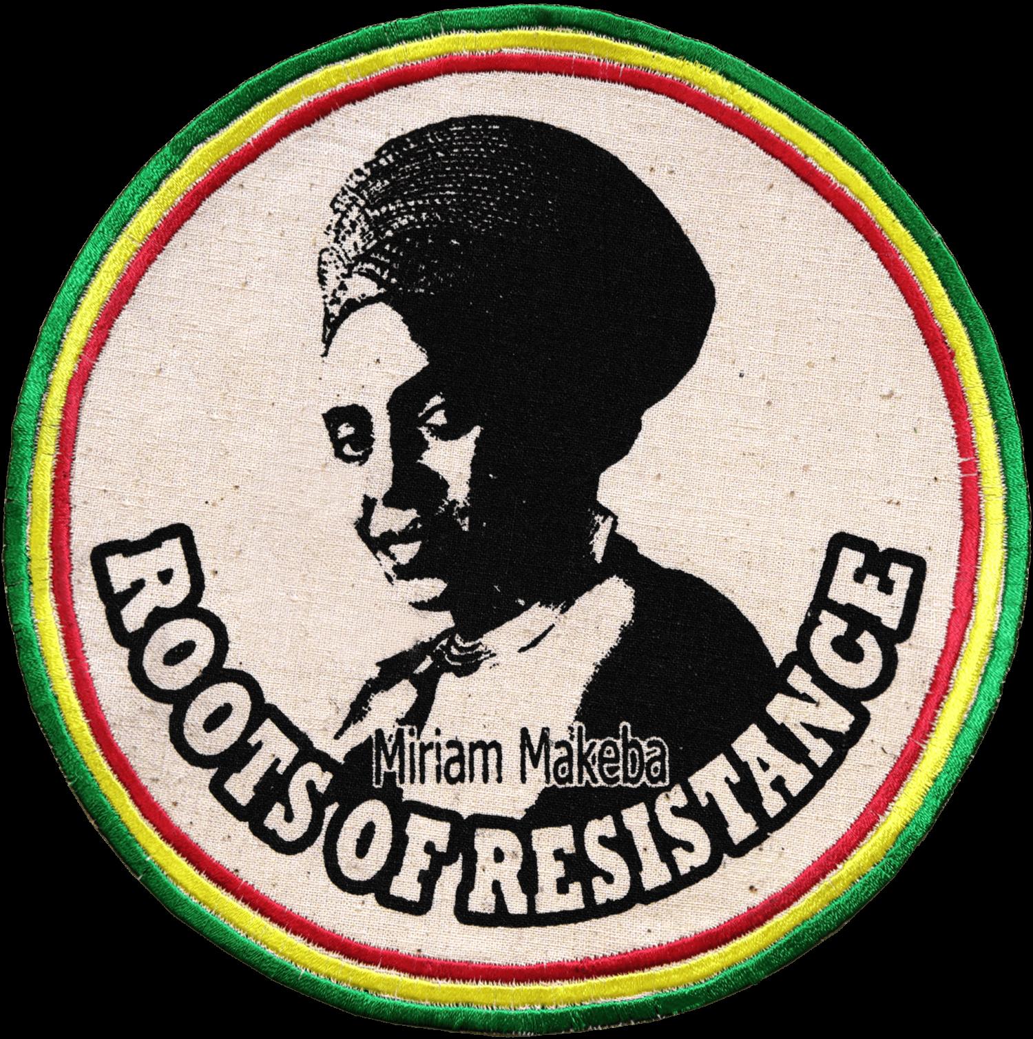 Patch Écusson Miriam Makeba Vert Jaune Rouge