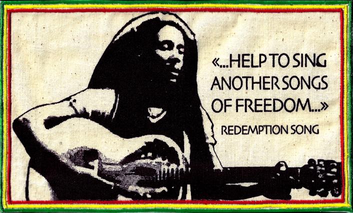 Écusson Patch Bob Marley Vert Jaune Rouge