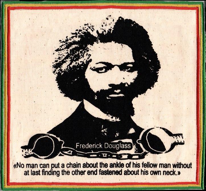 Patch Frederick Douglass - Vert Jaune Rouge