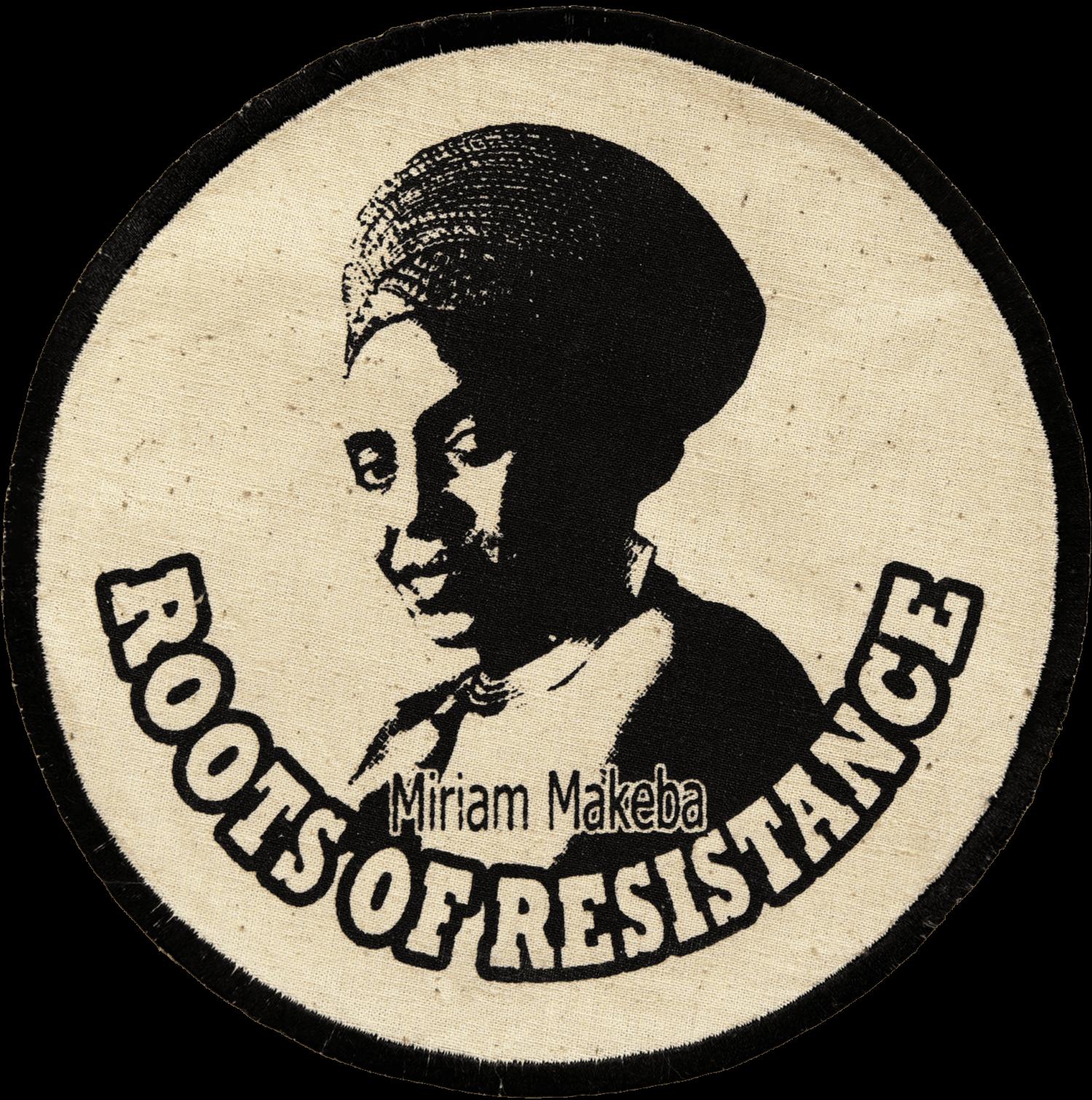 Patch Écusson Miriam Makeba Noir