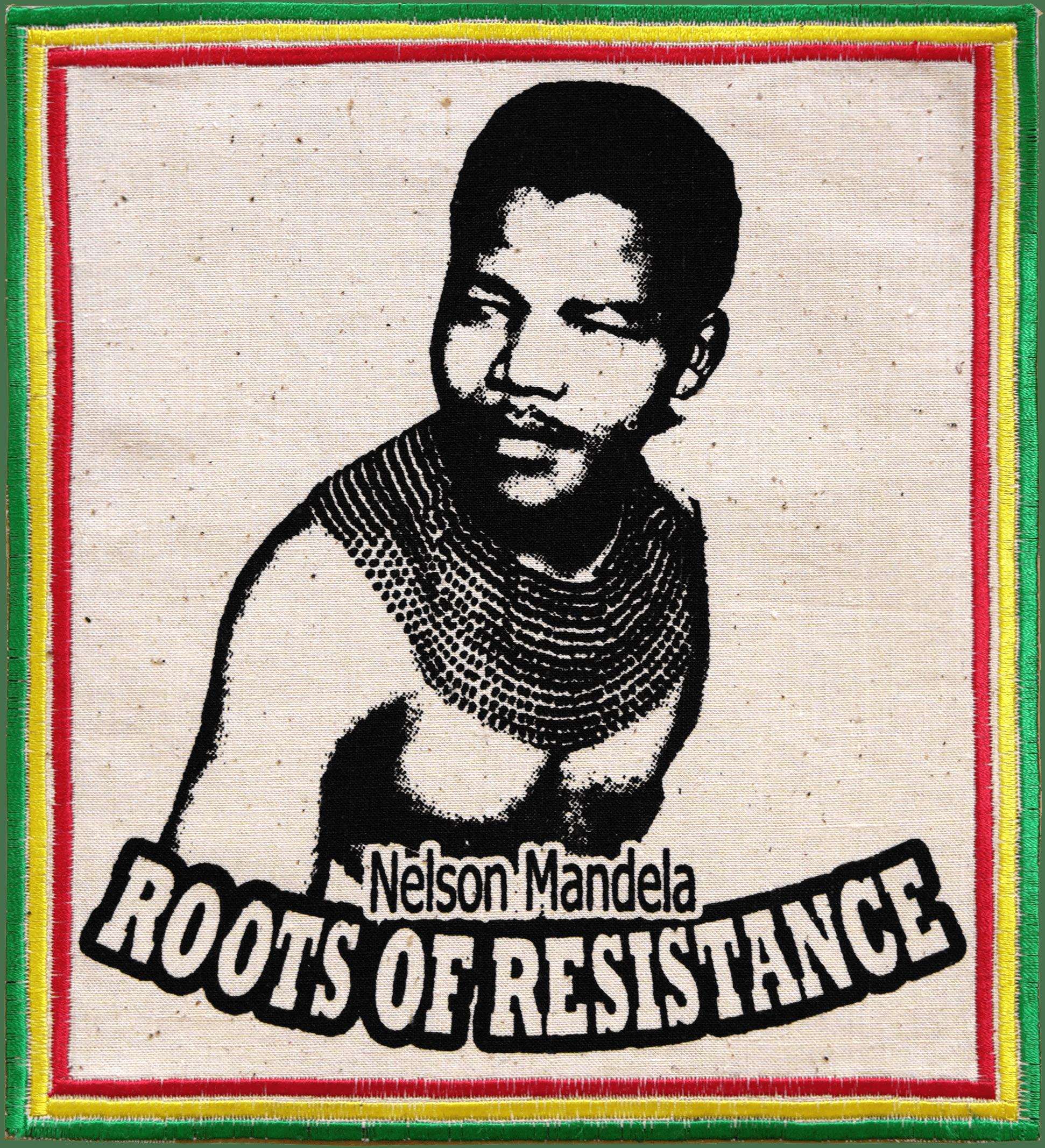 Patch Écusson Nelson Mandela - small-Vert jaune Rouge