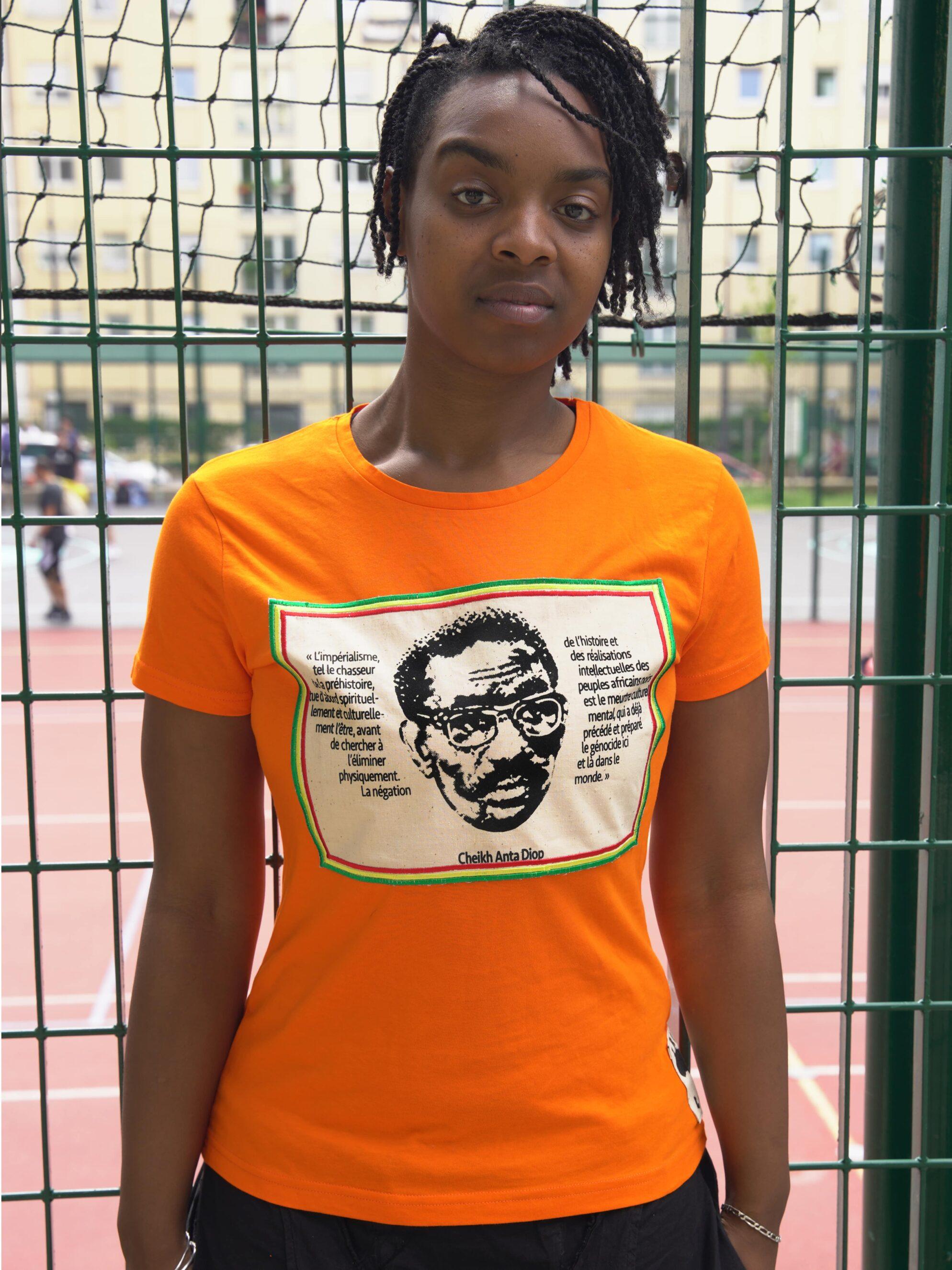 T.Shirt Cheikh Anta Diop -orange
