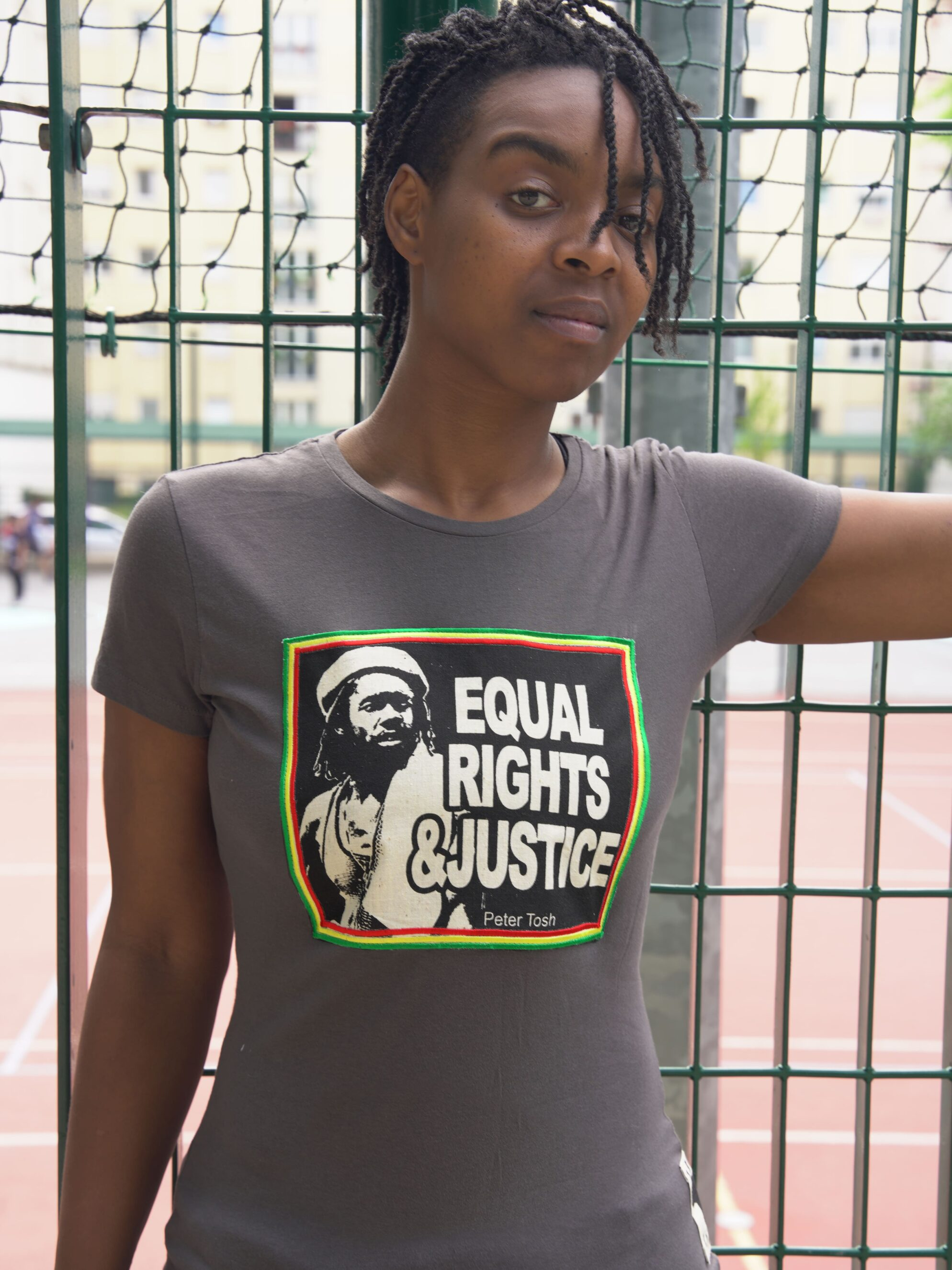 T.Shirt Femme Peter Tosh Equal Rights and Justice - gris