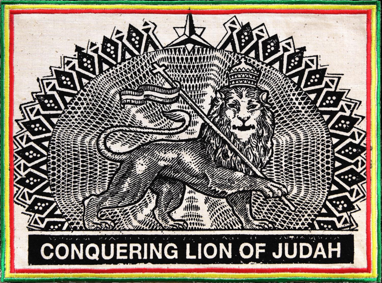 Patch Écusson Conquering Lion of Judah - vert jaune rouge