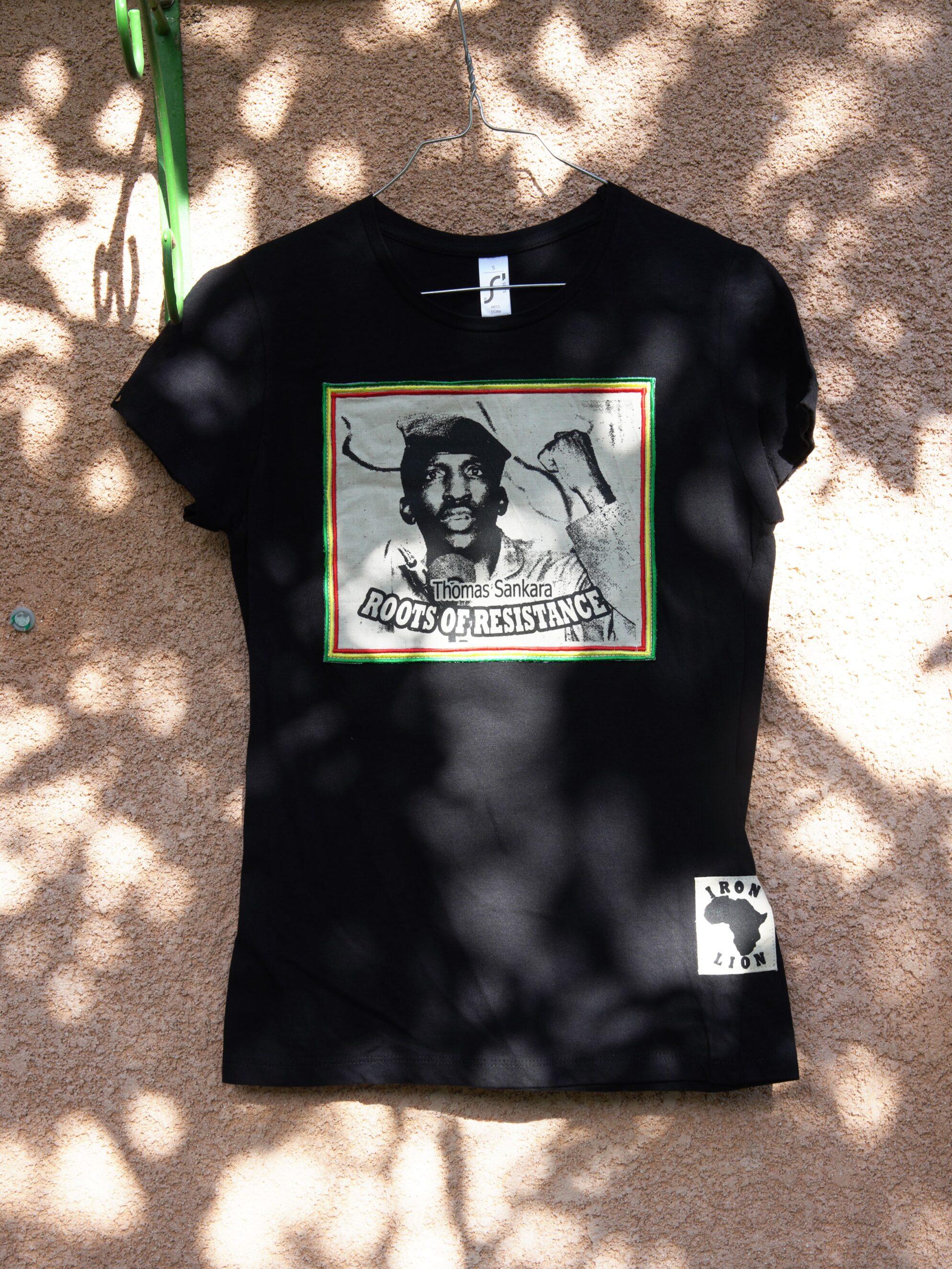 T.Shirt Femme Thomas Sankara - noir