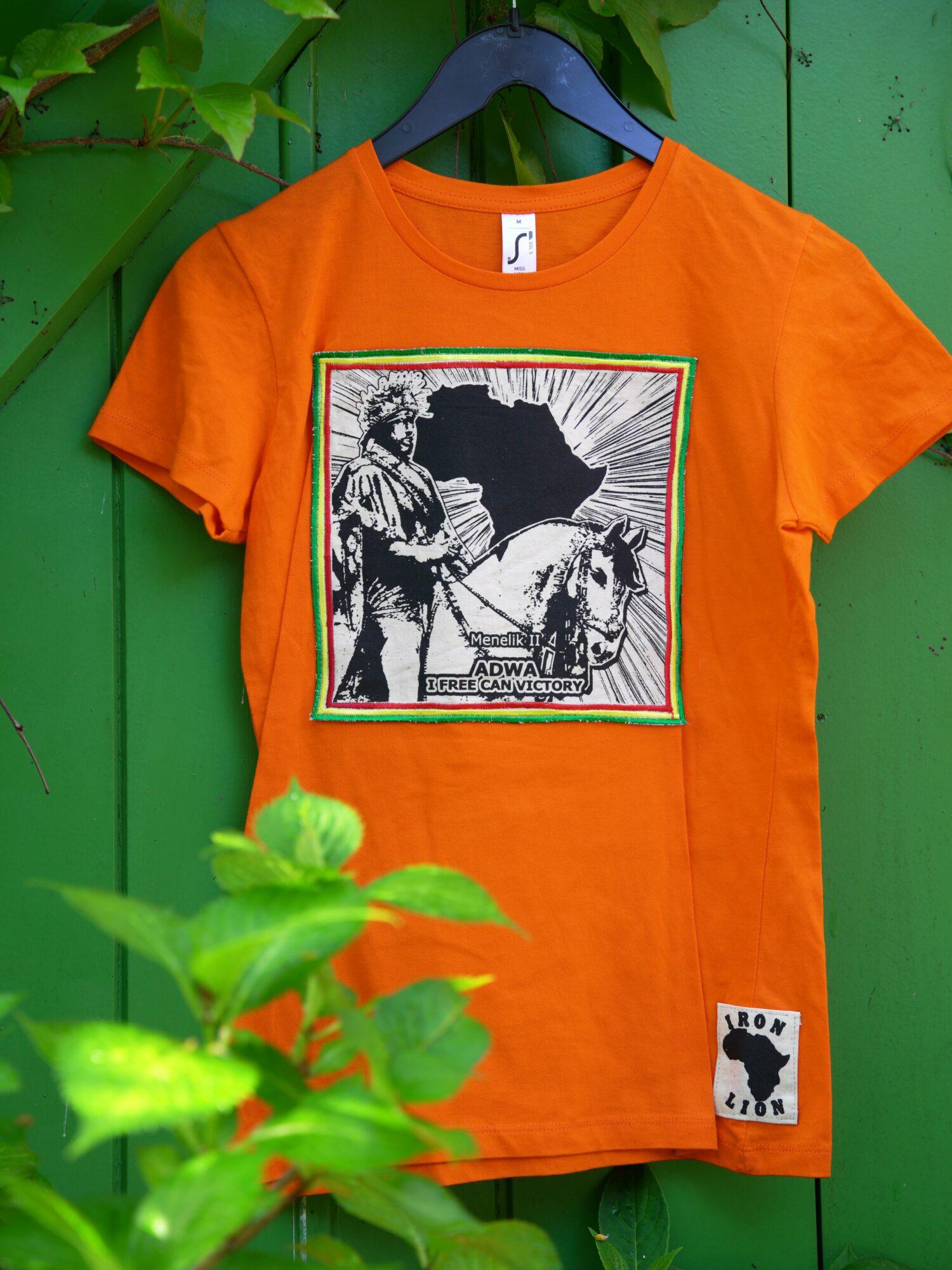 T.Shirt Femme Menelik Adwa - orange
