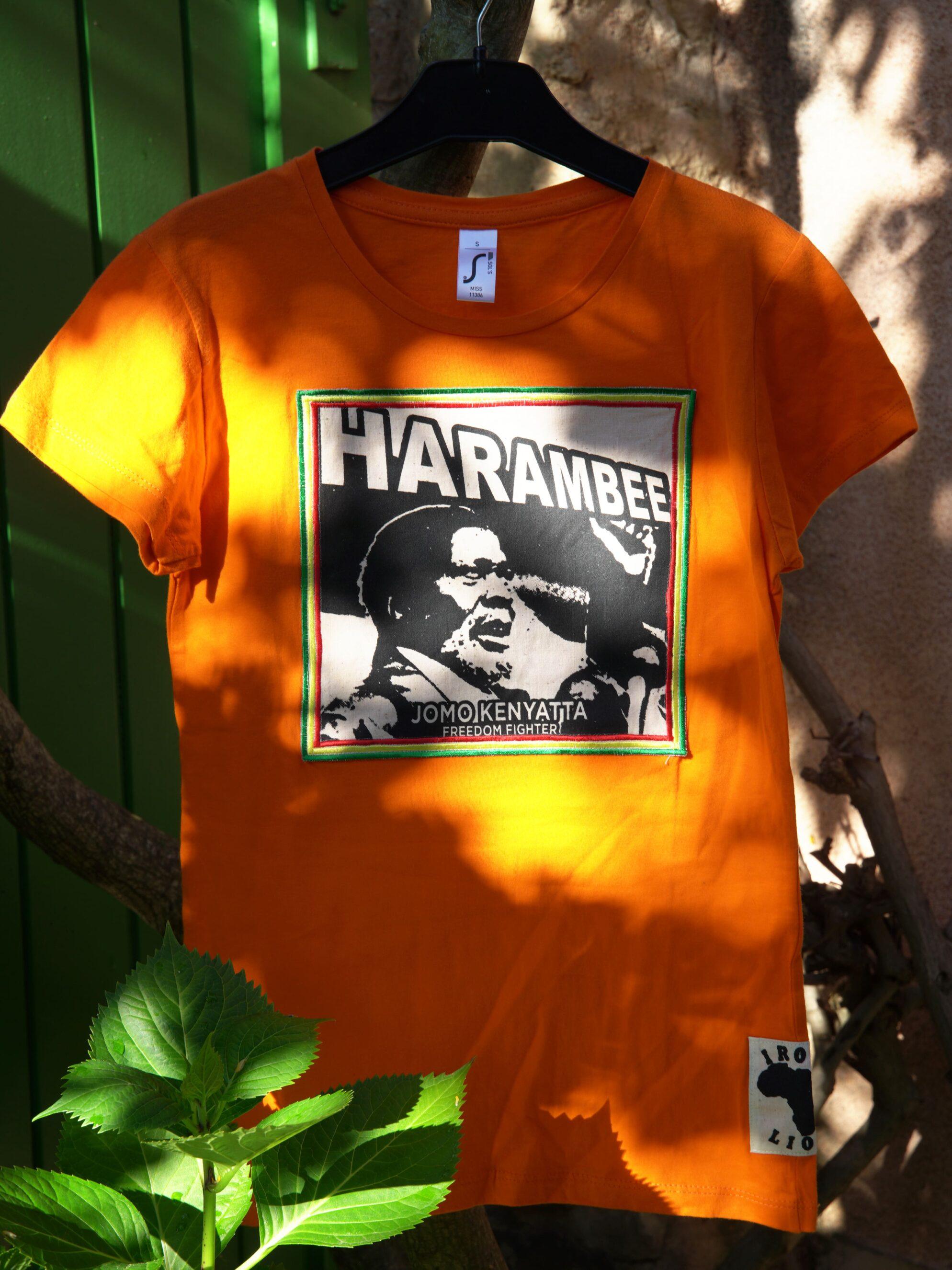 T.Shirt femme Jomo Kenyatta Harambee orange