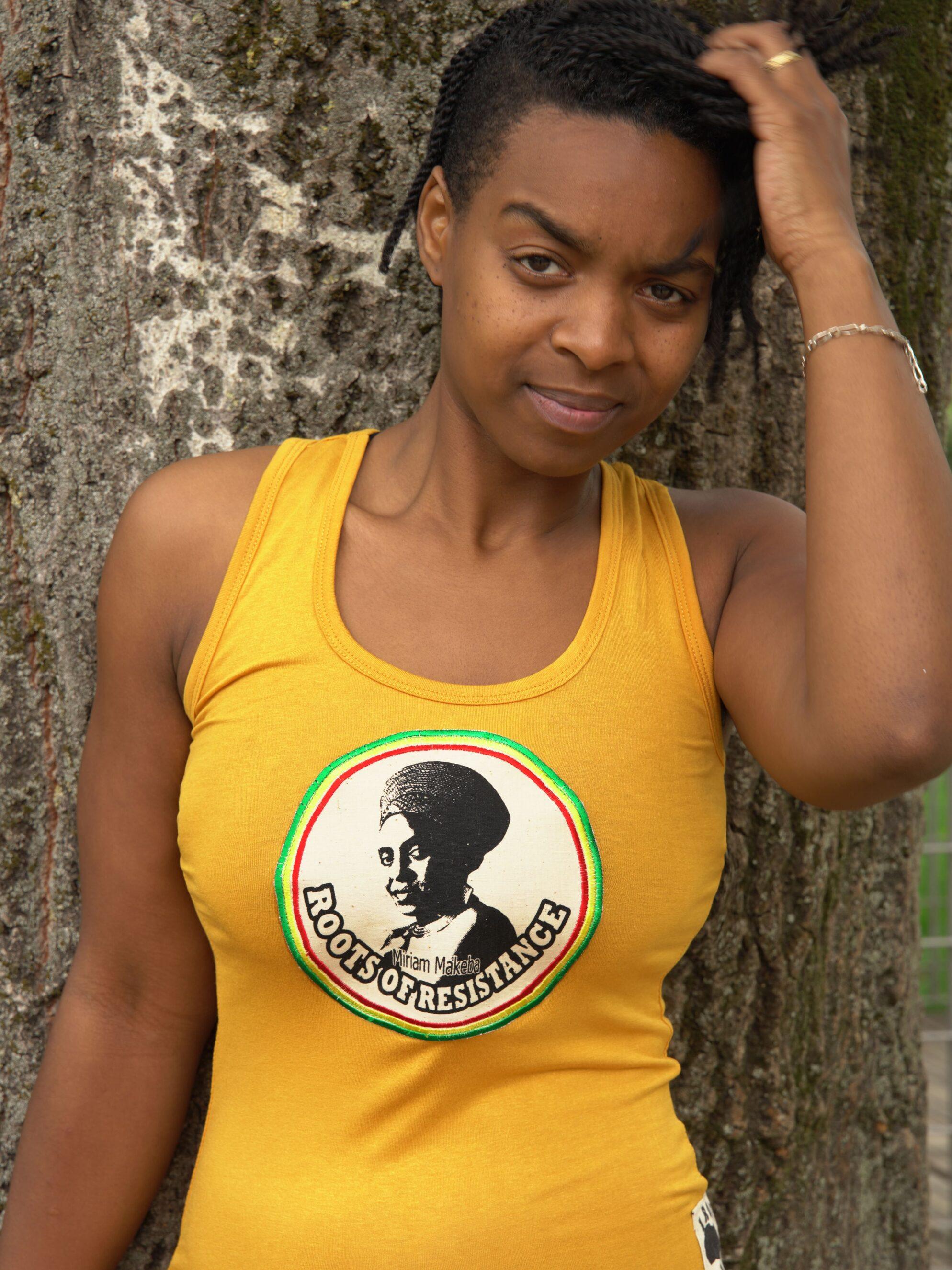 Débardeur Femme Miriam Makeba -or