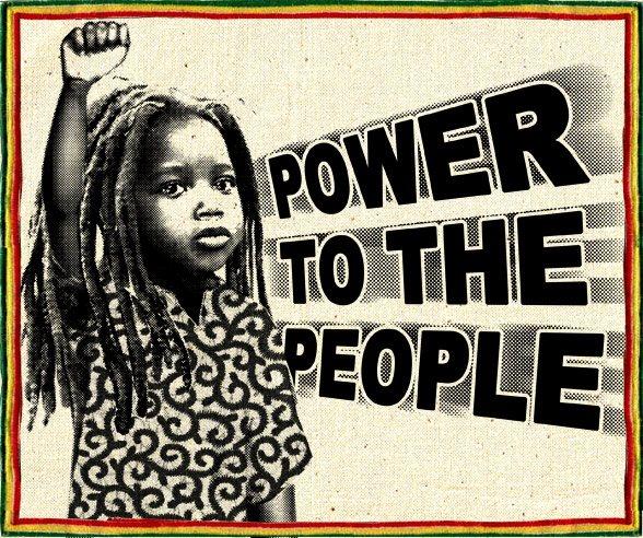 Écusson Power To The People - Vert jaune Rouge