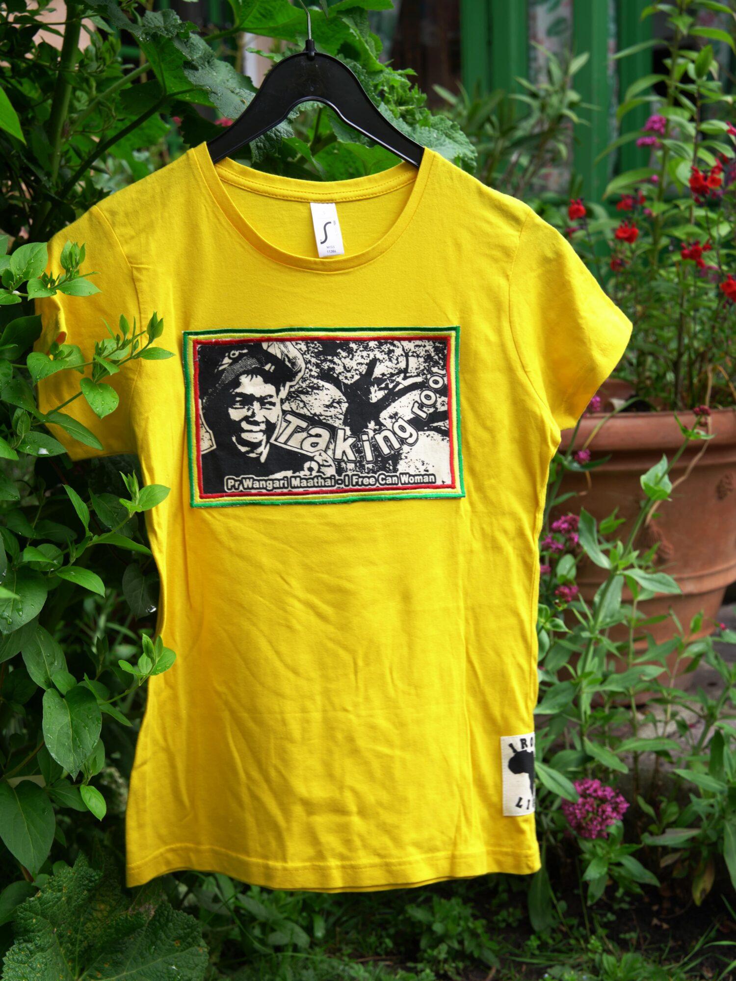 T.Shirt Femme Wangari Maathai -jaune